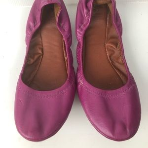 Lucky Brand 🍀Pink Leather Ballet Flats